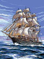 Картины по номерам на холсте 30×40 см. На всех парусах