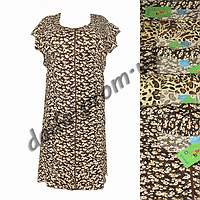Женский котоновый халат AB08m (БАТАЛ) на змейке оптом со склада в Одессе.