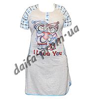 Женская котоновая ночная рубашка LD1 оптом со склада в Одессе.