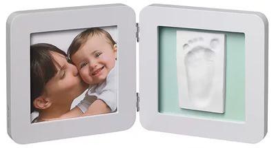 Двойная рамочка пастель Бебі Арт (фоторамка + отпечаток ручки или ножки) ТМ Baby Art Светло-серый 34120138