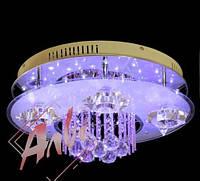 Люстра 6 ламповая с подсветкой и пультом управления для зала, спальни