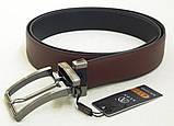 Кожаный двухсторонний ремень Alon (черный, коричневый), фото 4