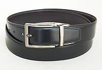 Двухсторонний кожаный ремень Alon (черный, темно-коричневый), фото 1