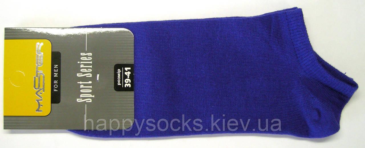 Короткие мужские носки синего цвета
