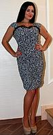Вечернее платье с драпировкой. Шикарно лепит фигуру. От S до XL. Темно-серое.