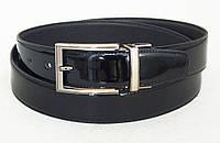 Двухсторонний кожаный лаковый ремень ALON, фото 1