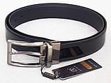 Двухсторонний кожаный лаковый ремень ALON, фото 3