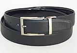 Двухсторонний кожаный лаковый ремень ALON, фото 2