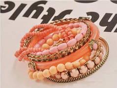 """Женский браслет на руку """"Bohemia"""" розовый цвет"""