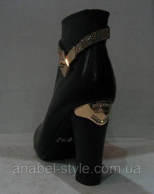 Ботильоны стильные на толстом каблуке Hermes , фото 2