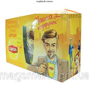 Подарочный набор Lipton (Липтон) 100 пакетов+Чашка, 2г*100пак, фото 2