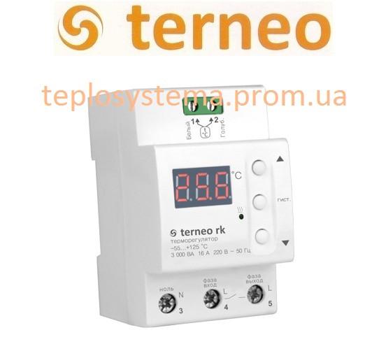 Терморегулятор  Terneo rk (на DIN-рейку), Украина