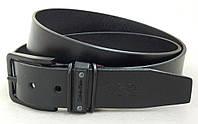 Мужской кожаный ремень CALVIN KLEIN с черной пряжкой, фото 1