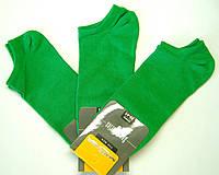 Очень короткие мужские носки зеленые