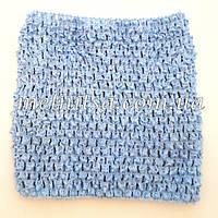 Топ стрейчевый для сарафанчиков ту-ту, голубой, на возраст 1-3года