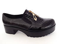 Удобные качественные туфли на тракторной подошве