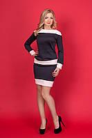 Шикарный молодежный костюм  юбка с кофточкой  в комбинации двух цветов