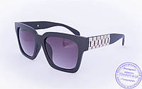 Солнцезащитные матовые очки в стиле Wayfarer - Черные - 060