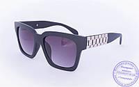 Солнцезащитные матовые очки в стиле Wayfarer - Черные - 060, фото 1