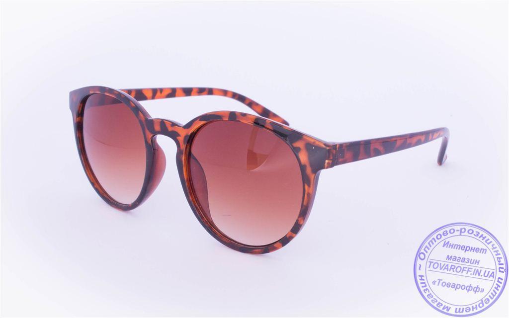Солнцезащитные очки в ретро стиле - Леопардовые - 89220