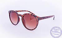 Солнцезащитные очки в ретро стиле - Леопардовые - 89220, фото 1