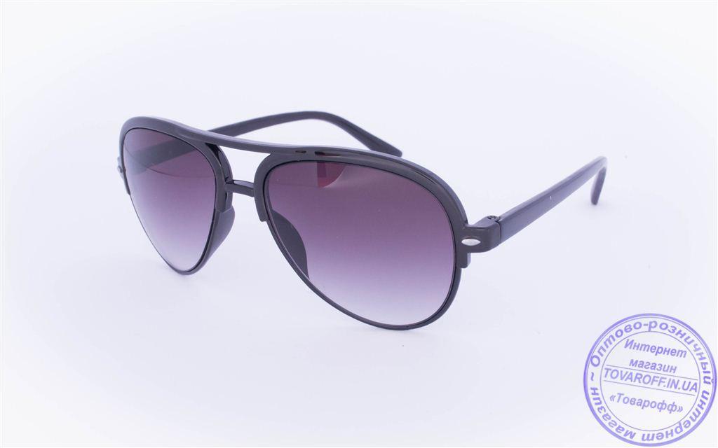 Солнцезащитные очки Авиатор - Черные - 2015-211