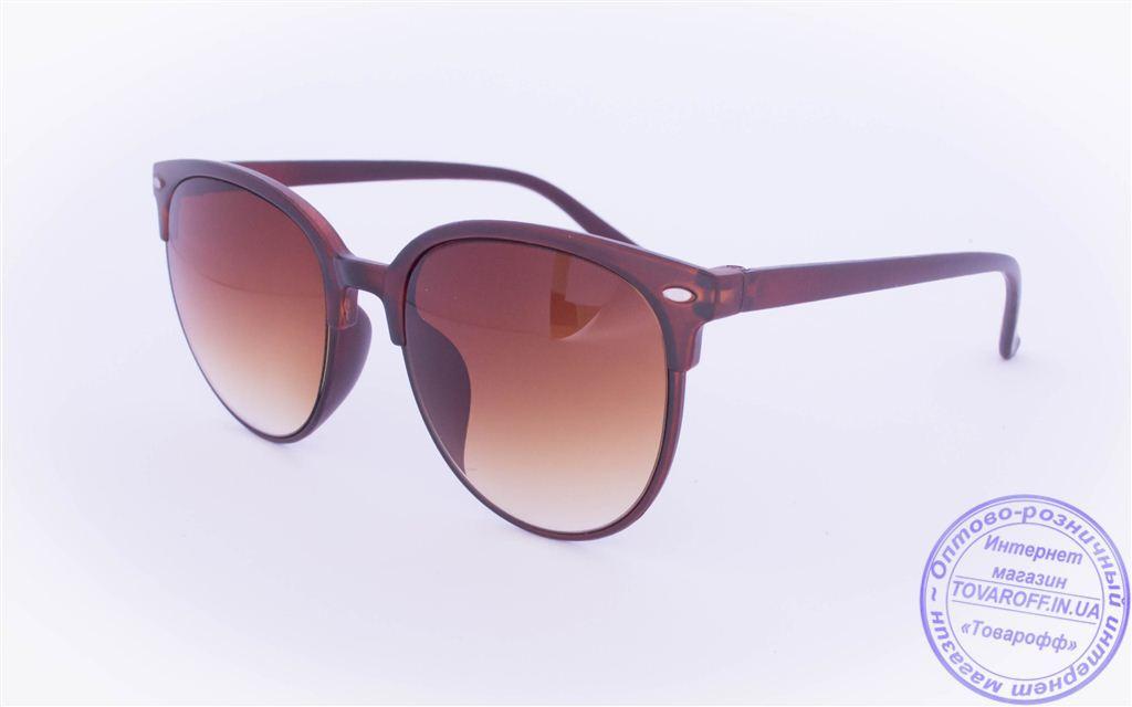 Солнцезащитные очки в ретро стиле - Коричневые - 2015-212