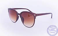 Солнцезащитные очки в ретро стиле - Коричневые - 2015-212, фото 1