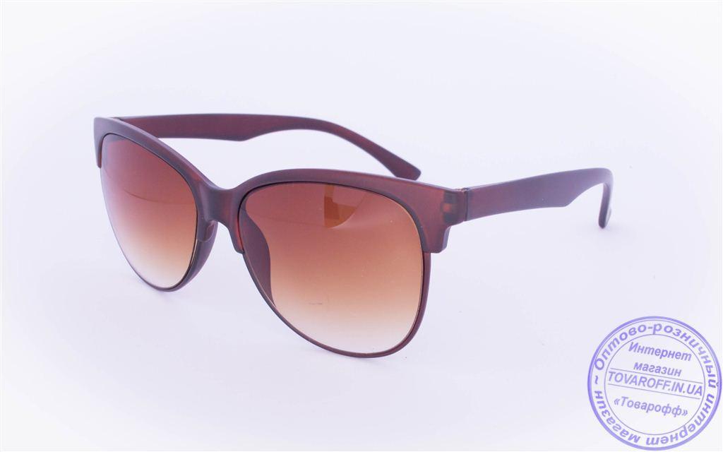Солнцезащитные очки в ретро стиле - Коричневые - 2015-214
