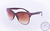 Солнцезащитные очки в ретро стиле - Коричневые - 2015-214, фото 1