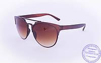 Солнцезащитные очки в ретро стиле - Коричневые - 2015-219, фото 1