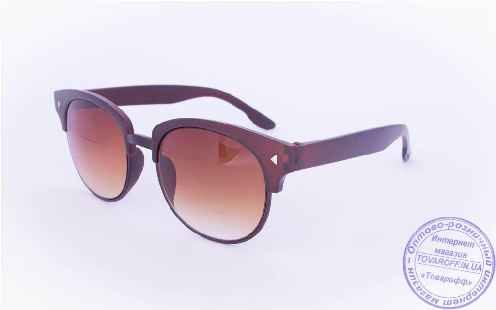 Солнцезащитные очки в ретро стиле - Коричневые - 2015-225