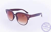 Солнцезащитные очки в ретро стиле - Коричневые - 2015-225, фото 1