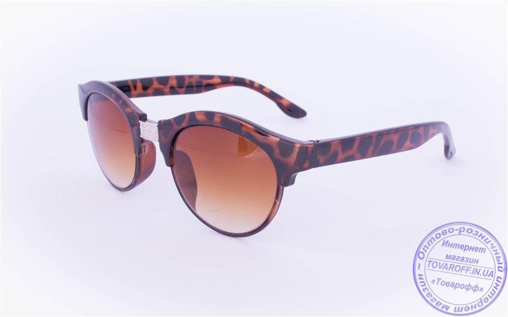 Солнцезащитные очки в ретро стиле - Коричневые - 2015-227