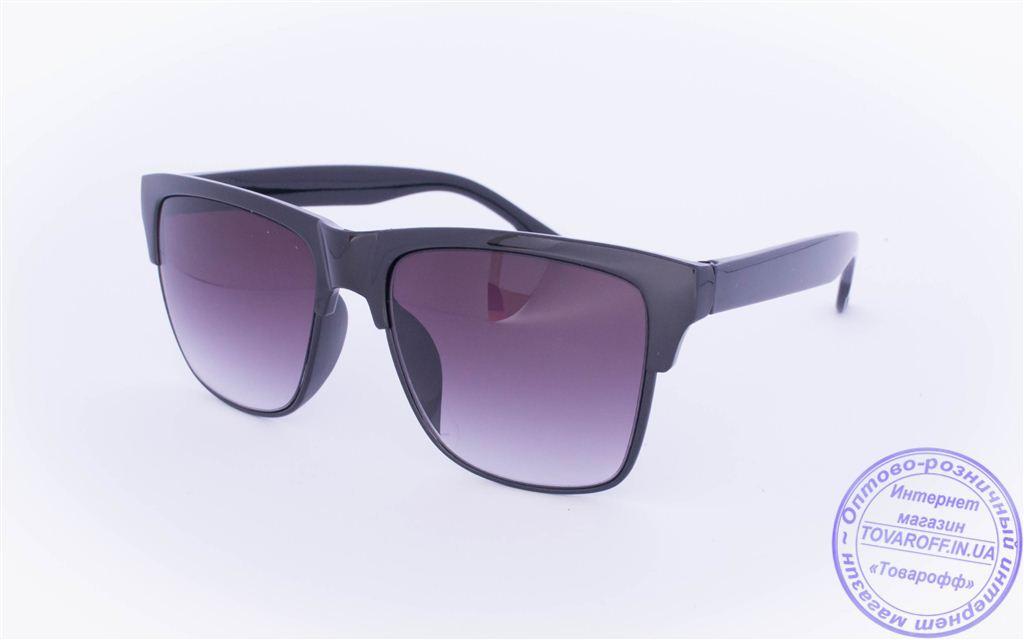 Солнцезащитные очки классической формы - Черные - 2015-228