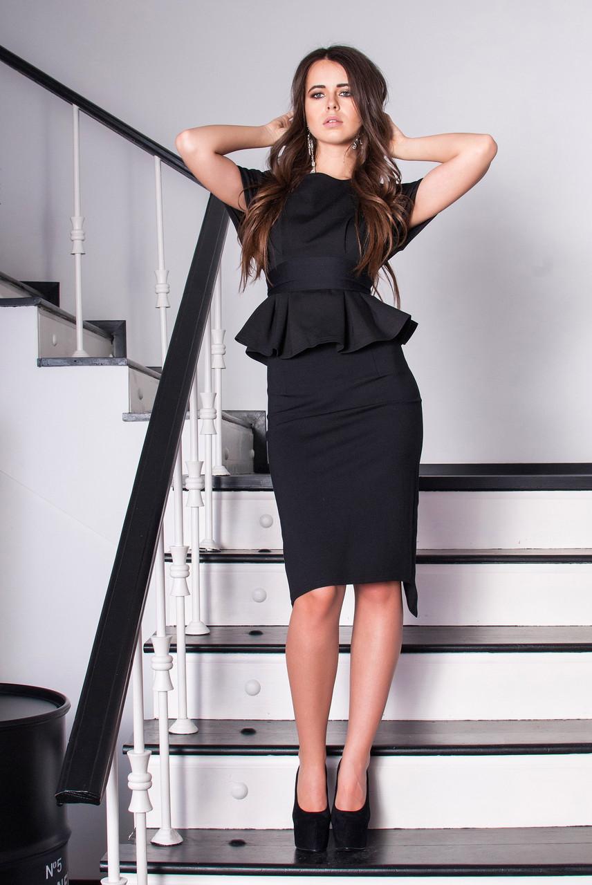 Костюм женский свободная блуза и юбка до колен