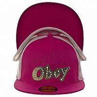 Бейсболка РЭП Obey розовая