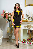 Облегающее женское платье Luzana -20480 черный+фисташковый
