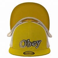 Бейсболка РЭП Obey желтая