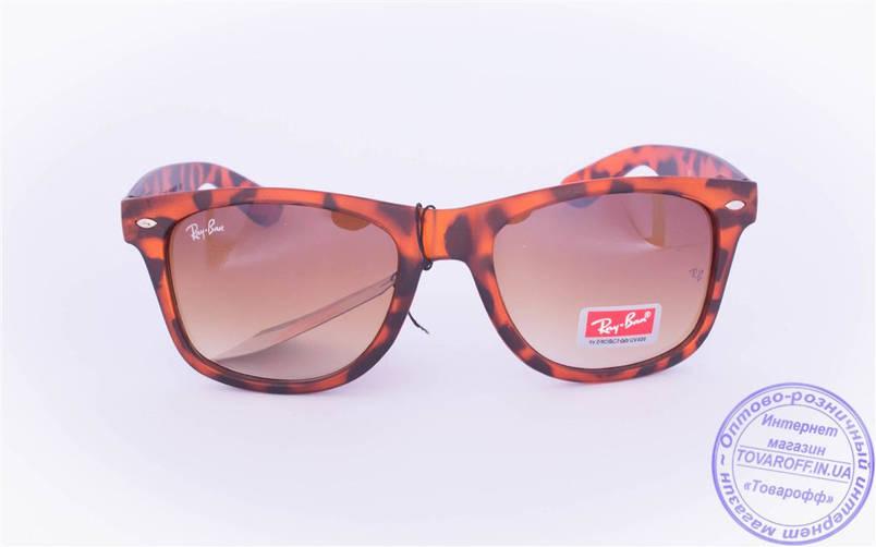 Сонцезахисні матові окуляри унісекс Ray Ban Wayfarer - Леопардові - W1, фото 2