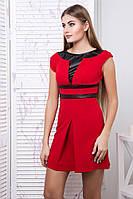 Яркое  платье Тату красный