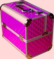 Кейс мастера металлический CH-2629 YRE раздвижной с алюминиевыми вставками, купить чемодан для парикамхера