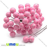 Калина большая, 12 мм, Розовая, 1 пара (DIF-015058)