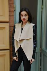 Пальто кашемир и экокожа, фото 3