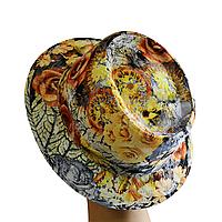 """Шляпа Блюз с принтом """"желтые розы""""."""