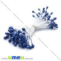 Тычинки на нитке маленькие, Синие, 1 пучок (DIF-014969)
