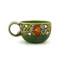 Керамика Веночек Чашка 300 мл зеленая