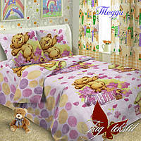 Комплект детского постельного белья Мишки розовые (подростковый)