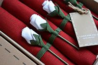 Набор 4 шт Салфетки лен 42*42 см красн.