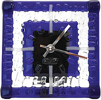 Настольные часы Снежинка 15*15 см синие
